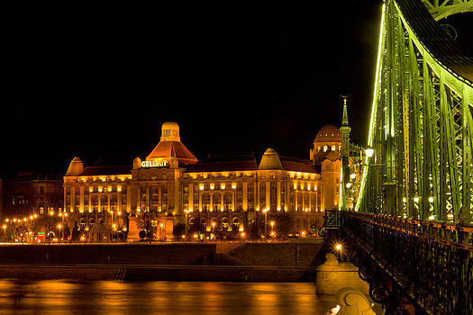 Gehlert Spa and the Freedom Bridge in Budapest by Les Abeyta