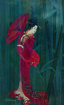 Geisha In Red by Suzanne Blender