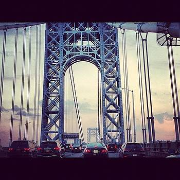 George Washington Bridge at Sunset by Lauren Smith