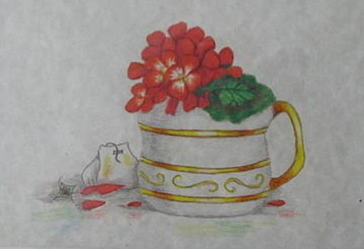 Geranium tea by Fran Haas