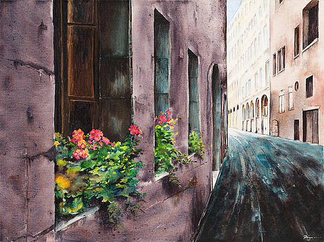 Geraniums in Vienna by Carol McLagan