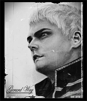 Gerard Way 10 Pencil Drawing by Debbie Engel