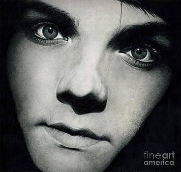 Gerard Way 13 Pencil Drawing by Debbie Engel