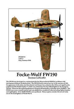 German Fighter Focke Wulf by Jerry Taliaferro
