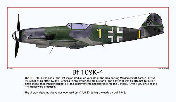 German Fighter Messerschmitt by Jerry Taliaferro