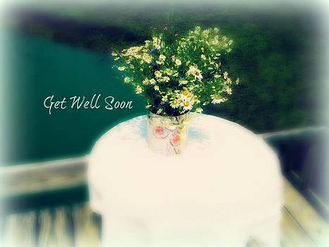 Get Well Card Flowers by Patricia Erwin