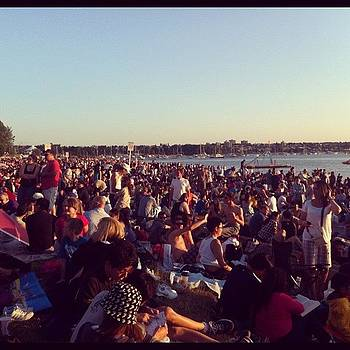 Getting Ready For The Fireworks! by Leah Simone Chatzoglou
