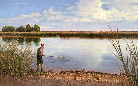 GICLEE Crabbin' in the ACE Basin by Michael Story