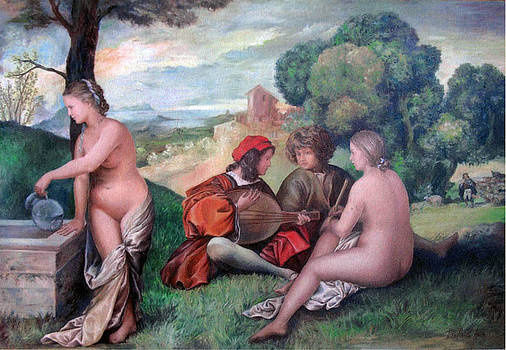 Giorgione and me by Aniko Toth