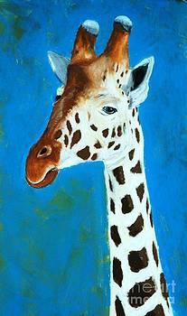 Giraffe Portrait by Melinda Etzold