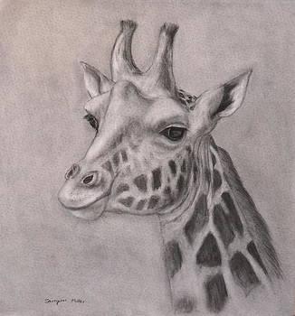 Giraffe Portrait by Sarojini Muller