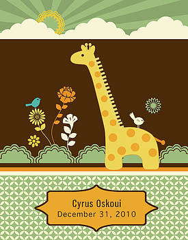 Giraffe Print by Misha Maynerick Blaise