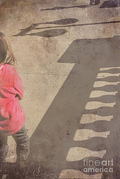 Girl and shadows by Jim Wright