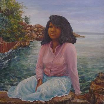 Girl by the Lake by L Stephen Allen