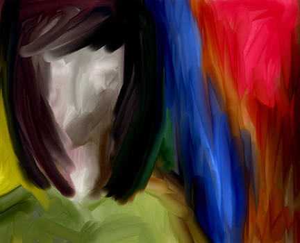 Girl face abstract art by Devika Agarwal