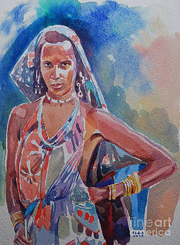 girl from  Ambraro tribe  by Mohamed Fadul