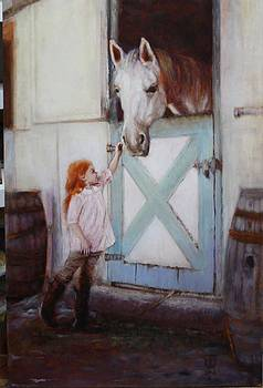 Girl with a Horse by Caroline Anne Du Toit