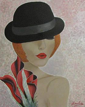 Girl With Black Hat by Dalia Gatautiene