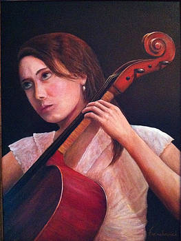 Girl with Cello by Leonard Franckowiak