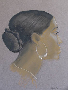 Girl with Hoop Earring by Don Perino