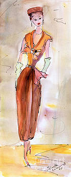 Ginette Callaway - Girl With Pillbox Hat Vintage Fashion
