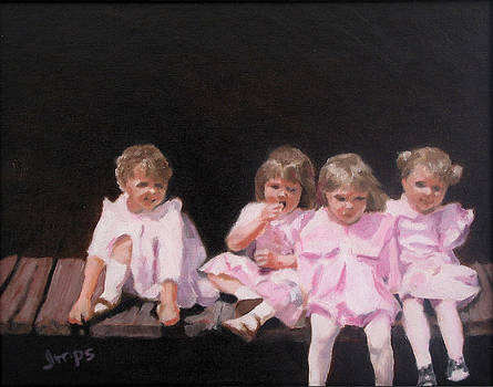 Girls in Pink by Jean  Smith