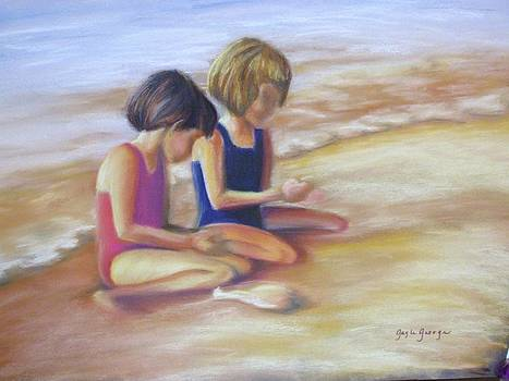 Girls on the beach by Gayle  George