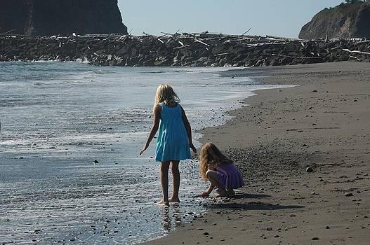 Girls on the Beach by Wanda Jesfield
