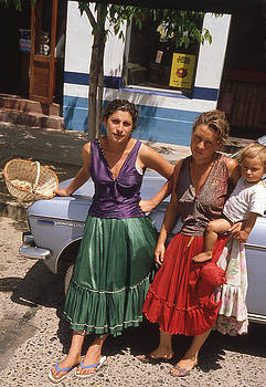Gitanas Selling on the Street In Chile by Thomas D McManus