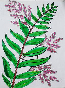 Glass Painting-Plant by Rejeena Niaz