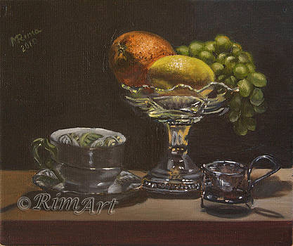 Glass With Fruits by Rima Bartkiene