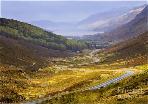 Glen Docherty and Loch Maree Scotland by George Hodlin