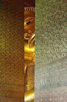Glimpse Of The Reclining Buddha At Wat by Roberto Westbrook