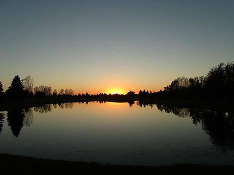 Glistening Dusk Sunset by Brian  Maloney
