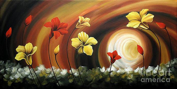 Glowing Flowers 6 by Uma Devi