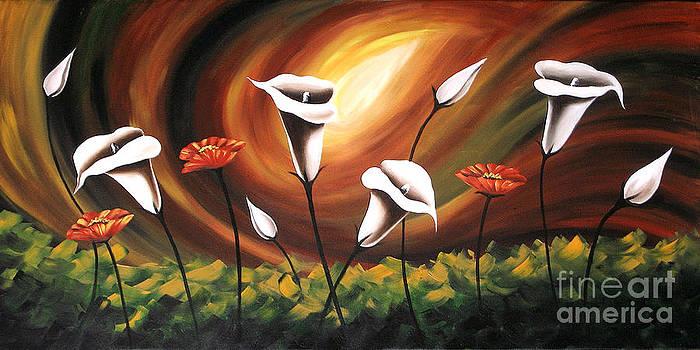 Glowing Flowers by Uma Devi