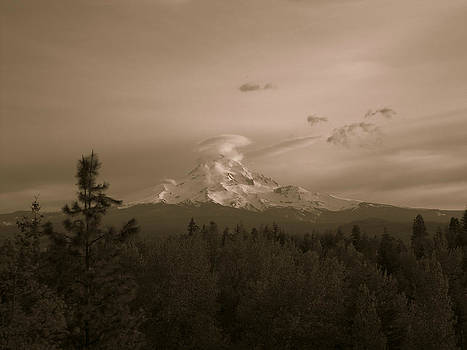 Glowing Mt. Hood by Melissa  Maderos