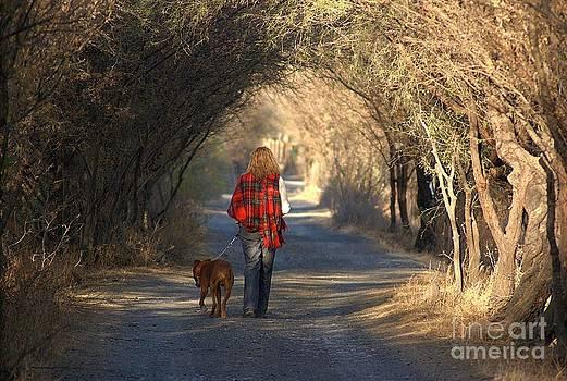 Going For A Walk  The Photograph by John  Kolenberg