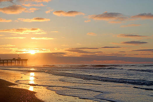 Golden Beach Sunrise by Rick Catizone