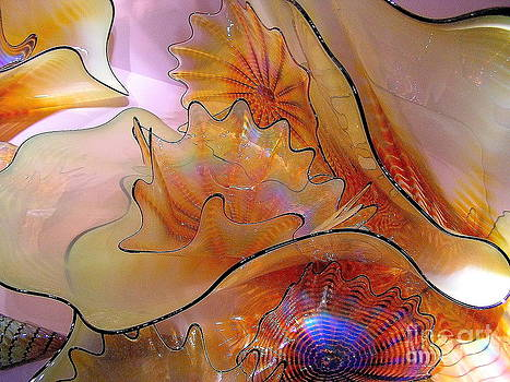 Golden Glass Waves by Christina A Pacillo