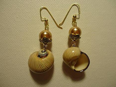 Golden Shell Earrings by Jenna Green