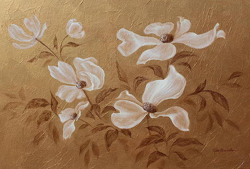 Golden Spring Blossoms by Rita   Broughton