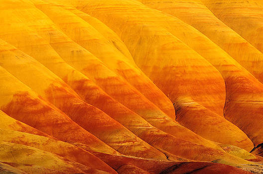 Golden Sunset at Painted Hills by Hegde Photos