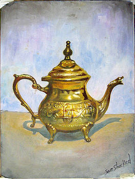 Golden Tea Kettle by Sam Shacked