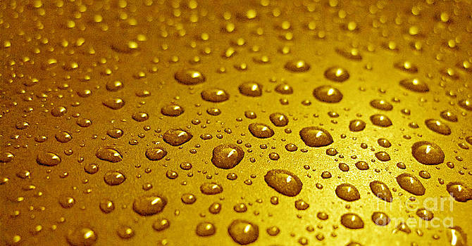 Golden Water Drops. Business card. Invitation etc. by Ausra Huntington nee Paulauskaite