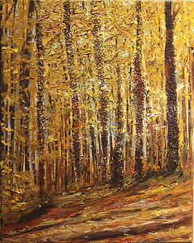 Golden Woods by Linda Woolven
