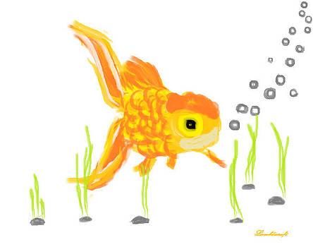 Goldfish by Watcharee Suebkhajorn