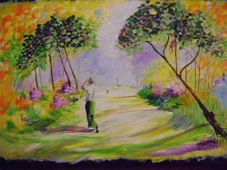 Golf at Augusta by Barbara Sudik
