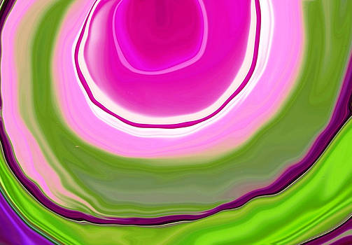 Gomphrena Abstract3 by Linnea Tober