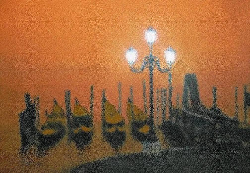 Gondolas At Sunset by Fernando Margolles